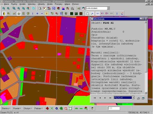 Szrafura planu zagospodarowania terenu wraz zopisem